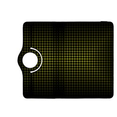 Optical Illusion Grid in Black and Yellow Kindle Fire HDX 8.9  Flip 360 Case