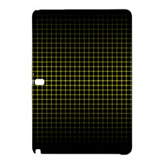 Optical Illusion Grid in Black and Yellow Samsung Galaxy Tab Pro 10.1 Hardshell Case