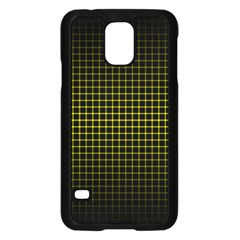 Optical Illusion Grid in Black and Yellow Samsung Galaxy S5 Case (Black)