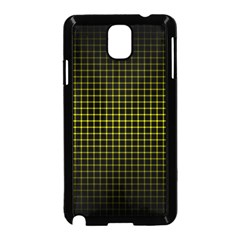 Optical Illusion Grid in Black and Yellow Samsung Galaxy Note 3 Neo Hardshell Case (Black)