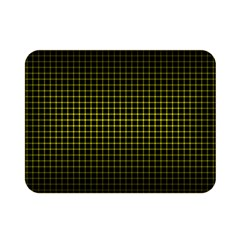 Optical Illusion Grid in Black and Yellow Double Sided Flano Blanket (Mini)