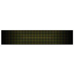 Optical Illusion Grid in Black and Yellow Flano Scarf (Small)