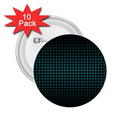 Optical Illusion Grid in Black and Neon Green 2.25  Buttons (10 pack)