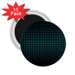 Optical Illusion Grid in Black and Neon Green 2.25  Magnets (10 pack)