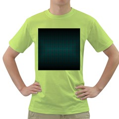Optical Illusion Grid in Black and Neon Green Green T-Shirt