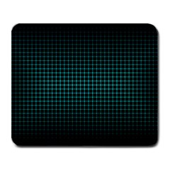 Optical Illusion Grid in Black and Neon Green Large Mousepads