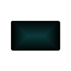Optical Illusion Grid in Black and Neon Green Magnet (Name Card)