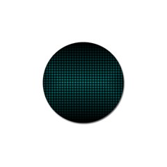 Optical Illusion Grid in Black and Neon Green Golf Ball Marker