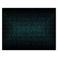 Optical Illusion Grid in Black and Neon Green Rectangular Jigsaw Puzzl