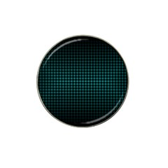 Optical Illusion Grid in Black and Neon Green Hat Clip Ball Marker (10 pack)