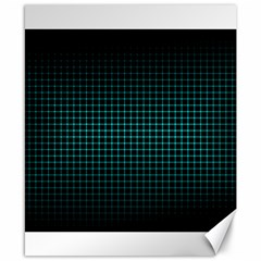 Optical Illusion Grid in Black and Neon Green Canvas 8  x 10