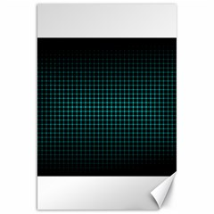 Optical Illusion Grid in Black and Neon Green Canvas 20  x 30