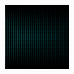 Optical Illusion Grid in Black and Neon Green Medium Glasses Cloth (2-Side)
