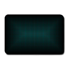 Optical Illusion Grid in Black and Neon Green Plate Mats
