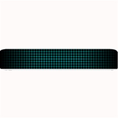 Optical Illusion Grid In Black And Neon Green Small Bar Mats