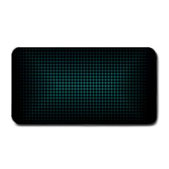 Optical Illusion Grid in Black and Neon Green Medium Bar Mats