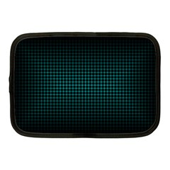 Optical Illusion Grid in Black and Neon Green Netbook Case (Medium)