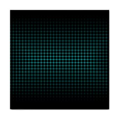 Optical Illusion Grid in Black and Neon Green Face Towel