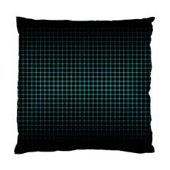 Optical Illusion Grid in Black and Neon Green Standard Cushion Case (One Side)