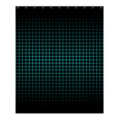 Optical Illusion Grid in Black and Neon Green Shower Curtain 60  x 72  (Medium)