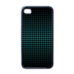 Optical Illusion Grid in Black and Neon Green Apple iPhone 4 Case (Black)