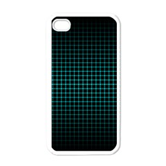 Optical Illusion Grid in Black and Neon Green Apple iPhone 4 Case (White)