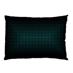 Optical Illusion Grid in Black and Neon Green Pillow Case (Two Sides)