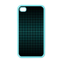 Optical Illusion Grid in Black and Neon Green Apple iPhone 4 Case (Color)