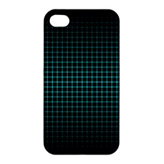 Optical Illusion Grid in Black and Neon Green Apple iPhone 4/4S Hardshell Case