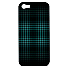 Optical Illusion Grid in Black and Neon Green Apple iPhone 5 Hardshell Case