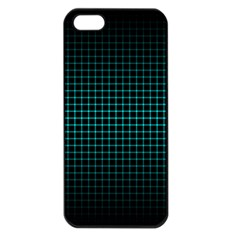 Optical Illusion Grid in Black and Neon Green Apple iPhone 5 Seamless Case (Black)