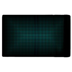 Optical Illusion Grid In Black And Neon Green Apple Ipad 2 Flip Case