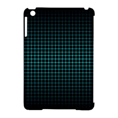 Optical Illusion Grid in Black and Neon Green Apple iPad Mini Hardshell Case (Compatible with Smart Cover)