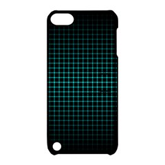Optical Illusion Grid in Black and Neon Green Apple iPod Touch 5 Hardshell Case with Stand