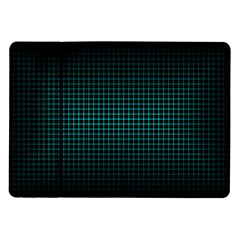 Optical Illusion Grid in Black and Neon Green Samsung Galaxy Tab 10.1  P7500 Flip Case