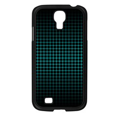 Optical Illusion Grid in Black and Neon Green Samsung Galaxy S4 I9500/ I9505 Case (Black)