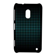 Optical Illusion Grid in Black and Neon Green Nokia Lumia 620