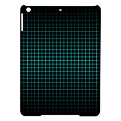 Optical Illusion Grid in Black and Neon Green iPad Air Hardshell Cases