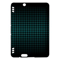 Optical Illusion Grid in Black and Neon Green Kindle Fire HDX Hardshell Case