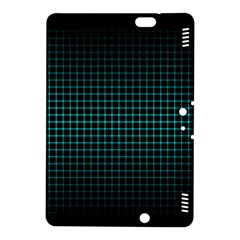 Optical Illusion Grid in Black and Neon Green Kindle Fire HDX 8.9  Hardshell Case