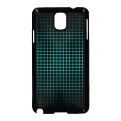 Optical Illusion Grid in Black and Neon Green Samsung Galaxy Note 3 Neo Hardshell Case (Black)