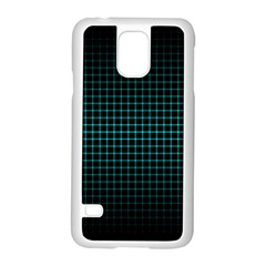 Optical Illusion Grid in Black and Neon Green Samsung Galaxy S5 Case (White)