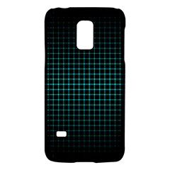 Optical Illusion Grid in Black and Neon Green Galaxy S5 Mini