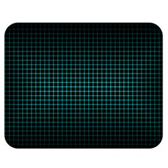 Optical Illusion Grid in Black and Neon Green Double Sided Flano Blanket (Medium)