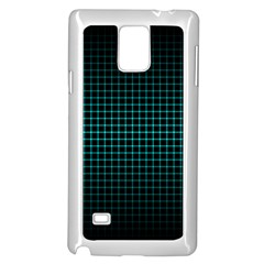 Optical Illusion Grid in Black and Neon Green Samsung Galaxy Note 4 Case (White)