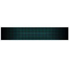 Optical Illusion Grid in Black and Neon Green Flano Scarf (Large)