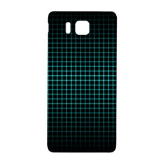 Optical Illusion Grid in Black and Neon Green Samsung Galaxy Alpha Hardshell Back Case