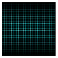 Optical Illusion Grid in Black and Neon Green Large Satin Scarf (Square)