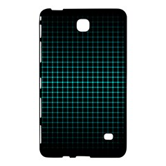 Optical Illusion Grid in Black and Neon Green Samsung Galaxy Tab 4 (8 ) Hardshell Case