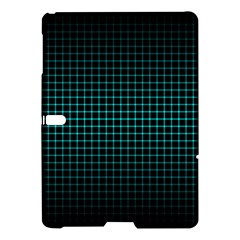Optical Illusion Grid in Black and Neon Green Samsung Galaxy Tab S (10.5 ) Hardshell Case